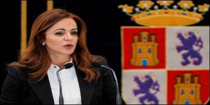 Silvia Clemente el día que renunció a todos sus puestos en el PP y en las Cortes