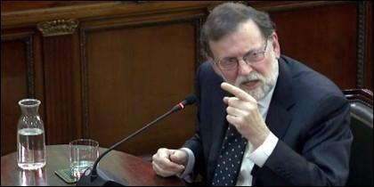 Mariano Rajoy durante su declaración en el TS