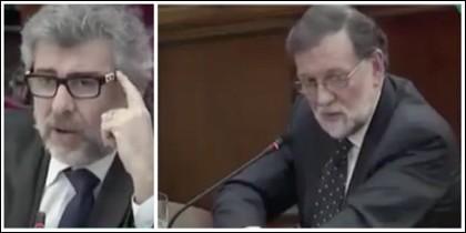 Jordi Pina y Mariano Rajoy.