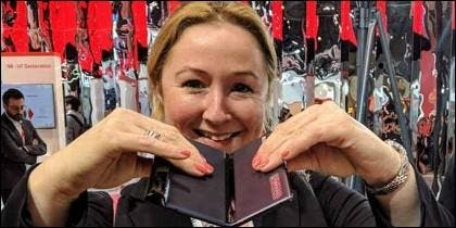 Zoe Kleinman, Corresponsal de Tecnología, BBC, en el Mobile World Congress.