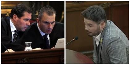 Los abogados de Vox y Gabriel Rufián.