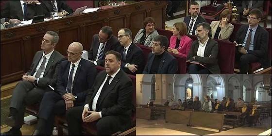 Hay más acusados de golpismo en el banquillo del TS, que fieles rezando por ellos en la iglesia de Sant Francesc de Reus (Tarragona).