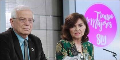 Josep Borrell y Carmen Calvo.