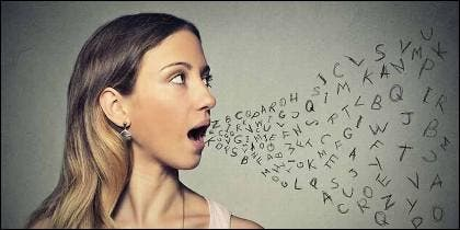 Hablar, lenguaje, voz y palabra.