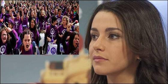 Inés Arrimadas (CS) y los colectivos feministas.