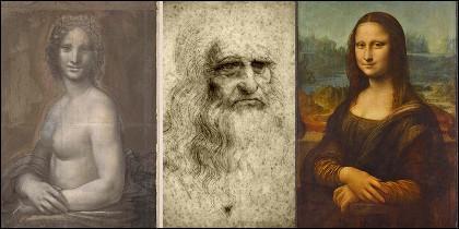 Lagioconda, desnuda y vestida y Leonardo da Vinci.