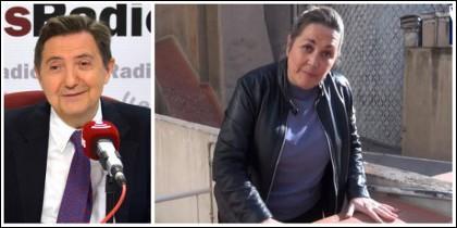 Federico Jiménez Losantos y Mayka Navarro.