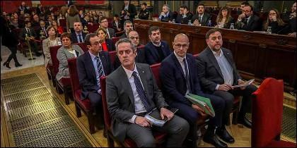 Los golpistas del 'procés' catalán, en el banquillo del Tribunal Supremo