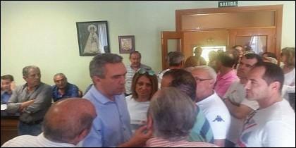 Javier Izquierdo y Teresa López en el Pleno que fue agredido el Alcalde de Valdestillas