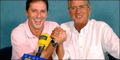 Paco González y Pepe Domingo Castaño, en su etapa en la SER.