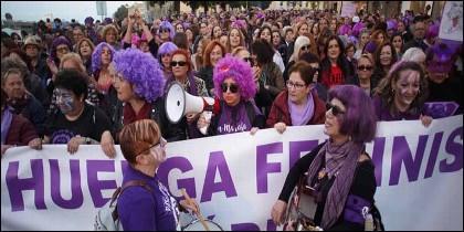Manifestantes feministas el 8M de 2019.