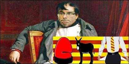 El golpista Puigdemont y su 'república catalana'.