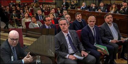Emilio Quevedo Malo testifica en el juciio a los golpistas del procés catalán.