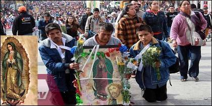La devoción a la Virgen de Guadalupe en México.