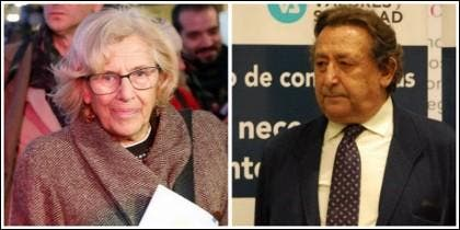 Manuela Carmena y Alfonso Ussía.
