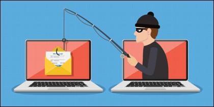 Phishing en Internet para conseguir tus contraseñas y datos.