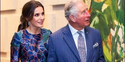 Doña Letizia y el Príncipe Carlos, esta semana en Londres.