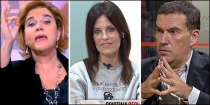 Pilar Rahola, Cristina Seguí y Jaume Alonso-Cuevillas.