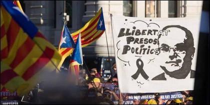 Manifestación independentista catalana en Madrid.