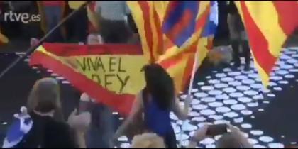 El ataque a la bandera de España en Madrid