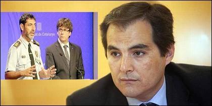 Trapero, Puigdemont y José Antonio Nieto.