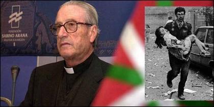 El siniestro obispo Setién y un guardia civil y su hija, víctimas de un atentado de ETA.