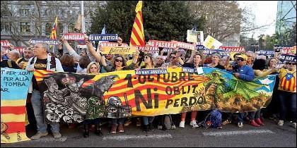 Esperpento separatista catalán en Madrid, el 16 de marzo de 2019.