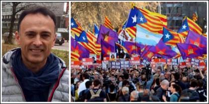 Luis Ventoso y la 'manifa' separatista.