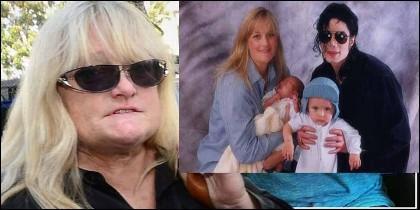 Debbie Rowe ahora y cuando estaba con Michael Jackson y sus hijos.