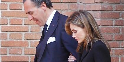 Marichalar y Doña Letizia, en una imagen de archivo.