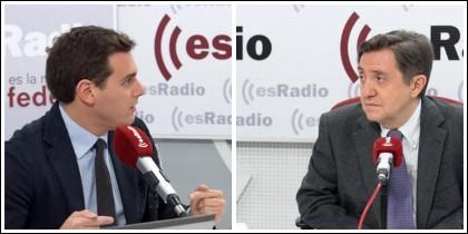 Albert Rivera y Federico Jiménez Losantos.