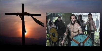 Los vikingos y la cruz de los cristianos.