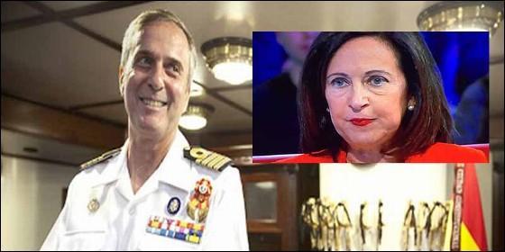 El vicealmirante Alfonso Gómez Fernández de Córdoba y Margarita Robles (PSOE)
