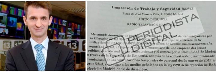 José Pablo López y la denuncia contra Telemadrid presentada ante Trabajo.