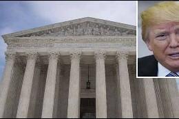 El presidente de EE.UU., Donald Trump, y la Corte Suprema.