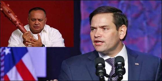 El narcochavista Disodado Cabello y el senador de EEUU Marco Rubio.