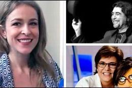Silvia Abascal, Joaquán Sabina y María Escario