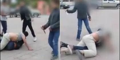Ataque de niño mexicano con un cuchillo
