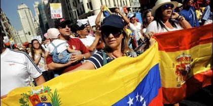 Españoles y venezolanos