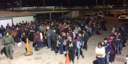Capturan a 446 inmigrantes ilegales en cinco minutos