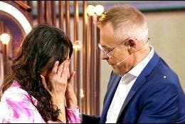 Maite Galdeano llorando con Jordi González