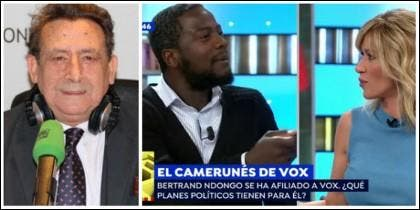 Alfonso Ussía, Bertrand Ndongo y Susanna Griso.