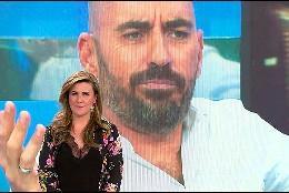 Carlota Corredera y Diego Arrabal en el videowall   (Telecinco)