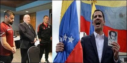 Juan Guaidó reconocido como presidente por la selección de futbol venezolana.