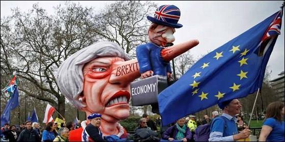 Manifestacióin contra el Brexit en Londres.