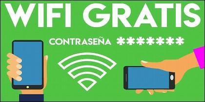WIFI, contraseña, internet y redes sociales.