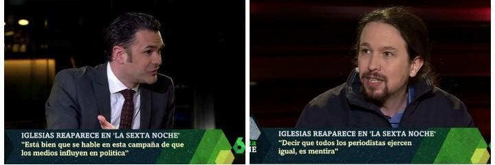 Iñaki López y Pablo Iglesias.