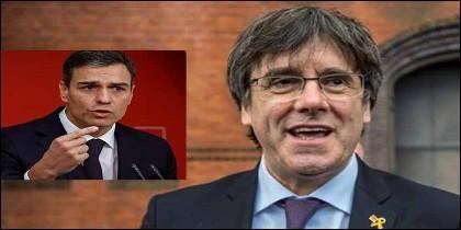 Pedro Sánchez (PSOE) y Carles Puigdemont.