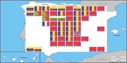España: El mapa de la inmigración provincia a provincia.