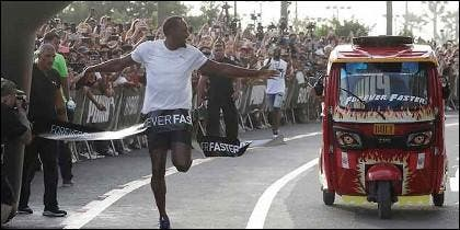 Usain Bolt y mototaxi